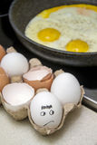 Fried eggs cooking Royalty Free Stock Photos