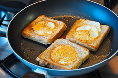 Fried eggs in a different way Royalty Free Stock Images