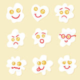 Fried eggs emoticons. Stock Photography