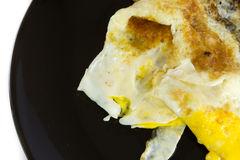 Fried egg fail. The fried eggs that failed Royalty Free Stock Images