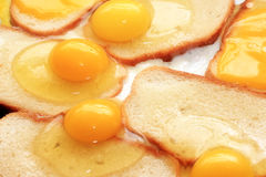 Fried eggs and fried bread Royalty Free Stock Image