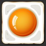 Fried eggs icon Royalty Free Stock Images