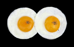 Fried eggs like eyes Stock Images