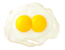 Fried eggs that look like funny face Royalty Free Stock Photos