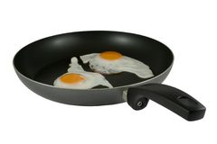 Fried eggs with path Stock Photos