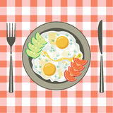 Fried eggs in a plate Royalty Free Stock Photo