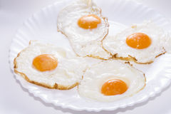 Fried eggs. Royalty Free Stock Photography