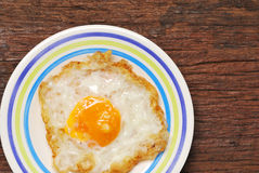 Fried Eggs on a plate Royalty Free Stock Photos