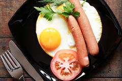 Fried Eggs Portion Royalty Free Stock Images