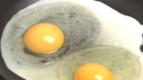 Fried eggs. stock footage