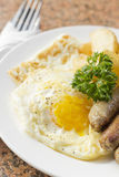 Fried Eggs Sausage Home Fries Royalty Free Stock Image