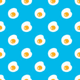 Fried Eggs seamless pattern Royalty Free Stock Photos