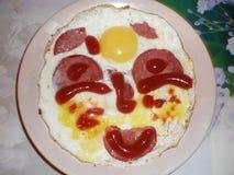 Fried eggs smile to you Royalty Free Stock Photos