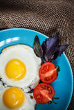 Fried eggs sunny side up Stock Photo