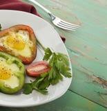 Fried Eggs With Sweet Pepper Fotografía de archivo