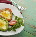 Fried Eggs With Sweet Pepper Stock Photography