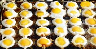 Fried eggs. At temple fair Stock Photo