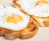 Fried Eggs on Toast Royalty Free Stock Photography