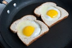 Fried Eggs and Toast Stock Image