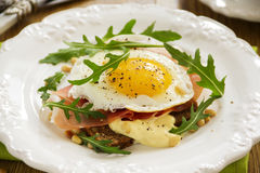 Fried eggs on toast Royalty Free Stock Photo