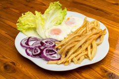 Fried eggs with various vegetables Stock Image