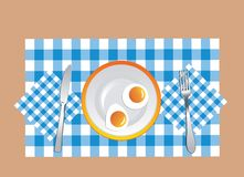 Fried eggs in vector royalty free stock photography