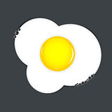 Fried eggs vector illustration Royalty Free Stock Photography