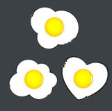 Fried eggs vector illustration Royalty Free Stock Images