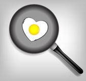 Fried eggs vector illustration Stock Photos