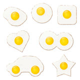 Fried Eggs Vector Illustration Royalty Free Stock Photos