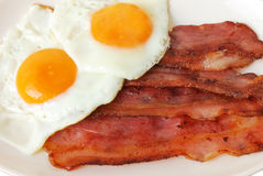 Fried Eggs With Bacon Royalty Free Stock Photos