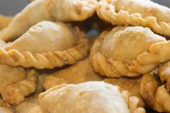 Empanadas fritas typical gastronomy of sud america. Fried empanadas typical of the Argentine countryside gastronomy Stock Images