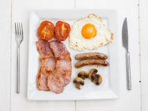 Fried english breakfast Royalty Free Stock Image
