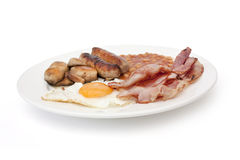Fried english cooked breakfast Stock Photo