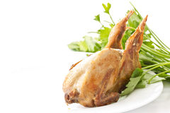 Fried female quail Royalty Free Stock Photo