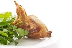 Fried female quail Stock Images