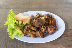 Fried Fermented Spare Ribs Stock Photography