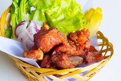Fried fermented spare ribs Royalty Free Stock Photo