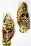 Fried filet herring Stock Photos