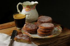 Fried filled cookies royalty free stock image