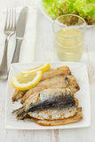 Fried fillet of sardines Stock Images