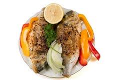 Fried fish. Royalty Free Stock Photos
