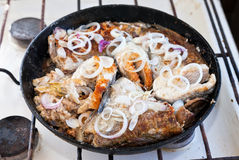 Fried fish Stock Photos