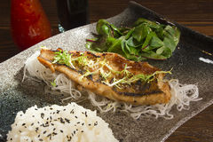 Fried fish in the Asian Stock Photos