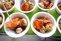 Fried fish ball. Thai food Royalty Free Stock Photography