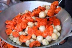 Fried fish ball. Thai food Royalty Free Stock Image
