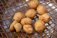 Fried fish balls stock photo