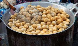 Fried fish balls stock photos