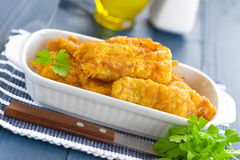 Fried fish in a batter Stock Photo