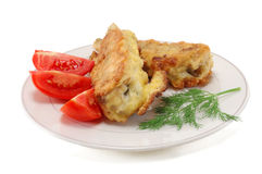 Fried fish in batter Royalty Free Stock Photography